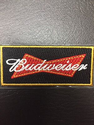 Budweiser Bud Brewery Beer Can Drinking Tavern Red Bow Tie Shaped Small Patch