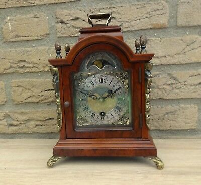 Old Beautifull   Warmink Clock Dutch Mantel Shelf Moon Dial Vintage