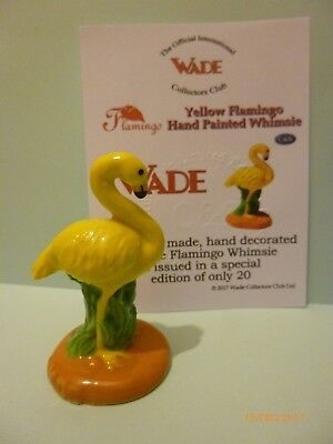 Wade Whimsie Hand Painted  Yellow Flamingo Le 20 Nice