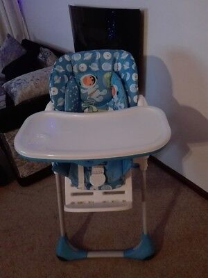 Chicco Polly 2in1 Highchair - Moon - blue