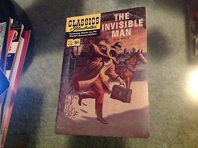 CLASSIC ILLUSTRATED COMIC BOOK 1971 THE INVISIBLE MAN No. 153 NICE