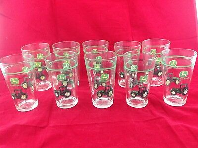 Lot of 10 Gibson John Deere 16 oz Conical Tumblers, Drinking Glasses