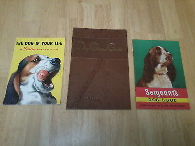 Dog Owners Guide by Kasco 1950,friskies dog food mag.1955+ sergeants dog book