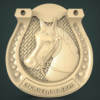 (1074) STL Model Horse for CNC Router 3D Printer Artcam Aspire Bas Relief