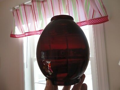 Antique RUBY RED Marine? Railroad? Lantern Lamp Globe Shade - NICE!