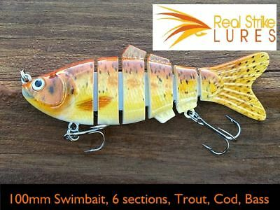 10cm Fishing Lures Swimbait Trout Murray Cod Yellowbelly Bass BreamRedfin