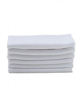 Large Muslin Squares Cloth 60cm x 60cm Baby White Nappy Bibs Wipes 100% Cotton