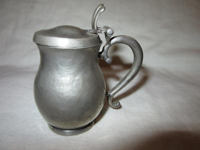 "Antique Hammered PEWTER 3"" CREAMER Maxfield Parrish Jean Parrish Collection"
