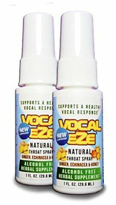 Herbal Throat Spray Professional Strength Vocal Eze with Honey, Aloe, Echinacea,