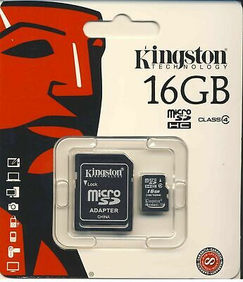 16GB Kingston Micro SD SDHC Samsung Memory Card Microsd TF Mobile Phone Class 4