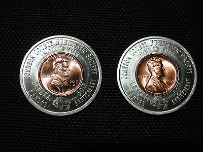 Encased Cent - 1967 and 2017-P BU Uncirculated Cents