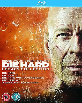 Die Hard Legacy Complete Collection Films 1+2+3+4+5 Blu-ray Boxset Boxed Set New