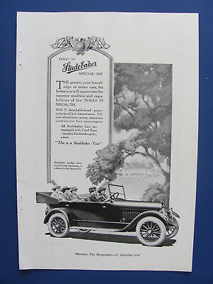 1920 Studebaker Automobile With Ladies Photo Insert Ad  #5