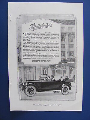 1920 Studebaker Automobile With Ladies Photo Insert Ad  #4