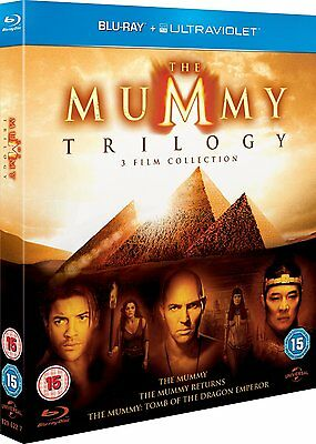 The Mummy Trilogy 1+2+3 Complete Collection Blu-ray Boxset Boxed Set New