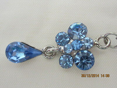 Belly Decoration -Blue Crystal Butterfly