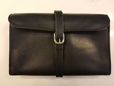 Daines & Hathaway Genuine Leather Military Wet Pack Dopp Bag