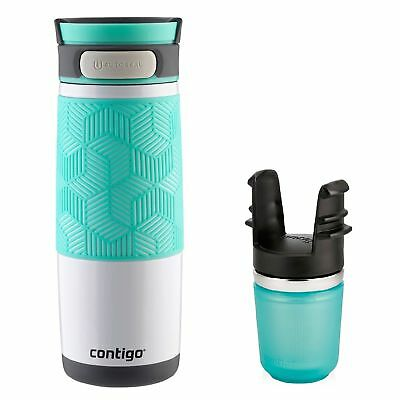 Contigo AUTOSEAL Transit Travel Mug & Tea Infuser Set 16oz Turquoise Stainless