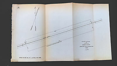 3 1881 Fort Hall Scetch Maps, Indian Reservation, Idaho Oregon Branch
