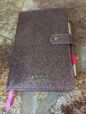 Victoria's Secret Glitter Journal Diary Notebook with Pen Limited Edition Pink
