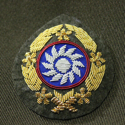 Reproduction Wwii Ww2 China Kmt Officer Hat Badge Kuomintang Insignia