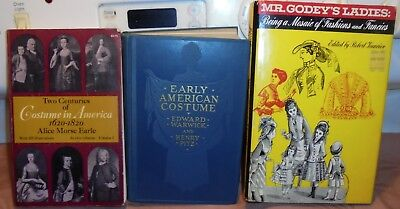 3 History Of Fashion Books Godeys Ladies Early American Costume Costumes In Amer