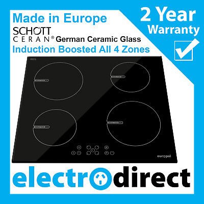 Made in Europe 60cm Induction Cooktop Electric Hob Cook Top Stove Ceramic Glass