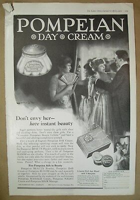 1919 Big ad POMPEAN Day Cream powder bloom Don't envy her - have instant beauty