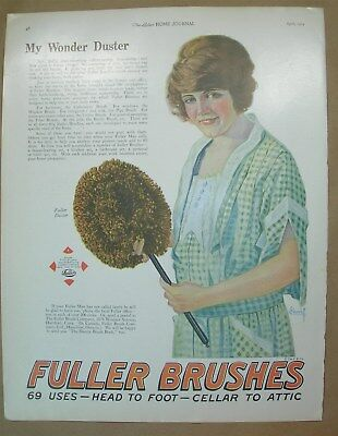 1924 Big ad Fuller Brushes - Borden's Eagle Brand Milk, When The Movies Are Good
