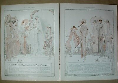 1924 Vtg 2 page Big ad The Bride with her attendants and some of the guests