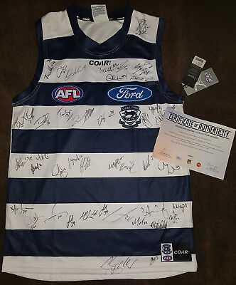 2017 AFL Signed Geelong Cats Jumper with authenticity