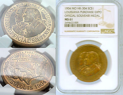 HK-304    St. Louis 1904 Louisiana Purchase Exposition So-Called Dollar NGC MS61