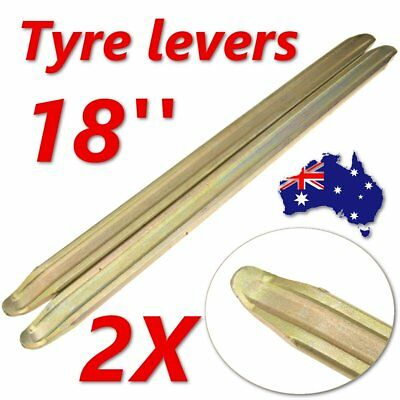 """2 x 18"""" TYRE LEVERS FOR MOTORCYCLES VANS CAR SCOOTER QUADS WHEELBARROW 450mm AU"""