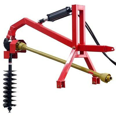 """Post Hole Digger with Hydraulic Down Force 9"""" Auger CAT1, 3PL - Tractor to 60hp"""