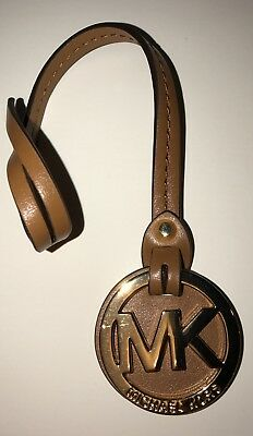 New Authentic Michael Kors Brown Peanut Leather Hang Tag
