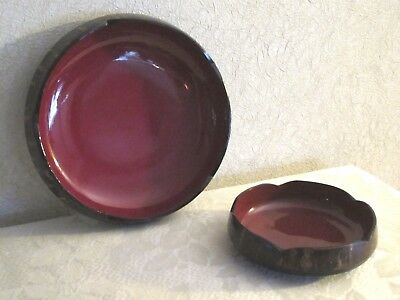 Vintage JAPANESE Lacquer Ware BOWLS - Set of Two Nesting