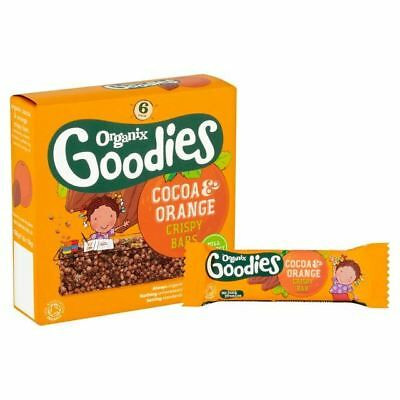Organix Goodies Crispy Bars Cocoa and Orange 6 x 18g