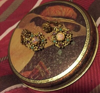 Vintage Lot of 2 Clip on Earrings Earrings~Ships Today! Free Shipping
