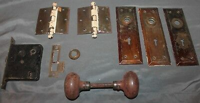 Lot of Antique Door Hardware from late 1800's home  salvage lot