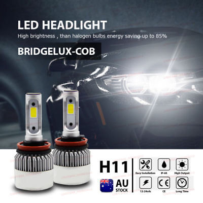 2x H11 160W 20000LM CREE Car COB LED Headlight Kit Beam Bulbs 6000K High Power