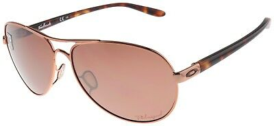 Oakley Women's Feedback Sunglasses OO4079-12 Rose Gold | VR28 Black Polarized