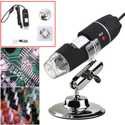 500X8 LED USB 2.0 Digital Microscope Endoscope Zoom Camera Magnifier+Stand 2MP