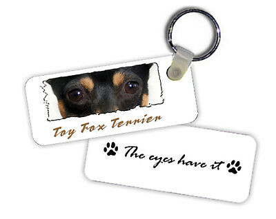 Toy  Fox  Terrier   The  Eyes Have It   Key  Chain