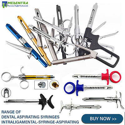 Dental Lab Self Aspirating Anesthetic Cartridge Anesthesia Syringes 2.2ml -1.8ml