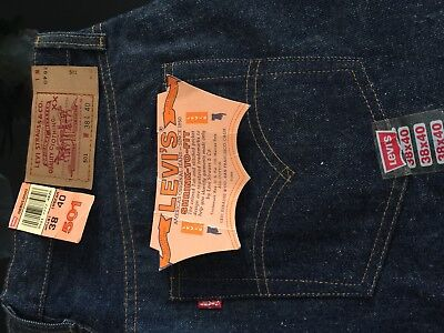 Genuine Levi 501 Big E Button fly Jeans Unworn as New- have owned these 31 Years