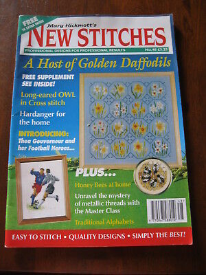 Mary Hickmott's New stitches: No. 48:Inc:Golden Daffodils:Cross stitch :Preloved