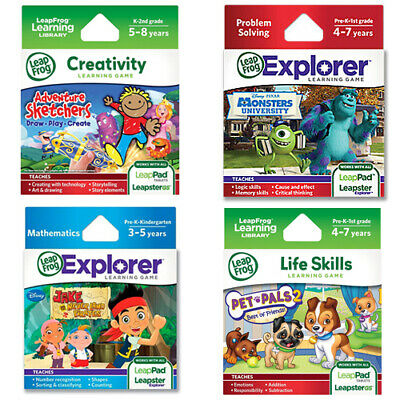 LeapFrog Leapster LeapPad Kid Math Creativity Learning toy Game Cartridge 3-8 yr