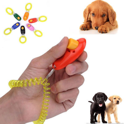 Pet Dog Training Key Chain Clicker Dog Obedience Trainer Wrist Strap Hot diy