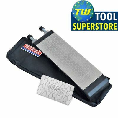 Faithfull Double Sided Diamond Whetstone Sharpening Stone