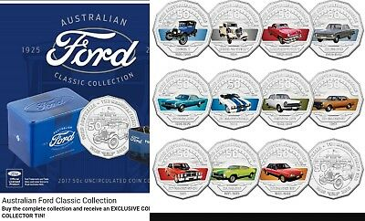 SOLD OUT STRAIGHT AWAY Ford Australian Classic Collection 50c 12-Coin Set w TIN